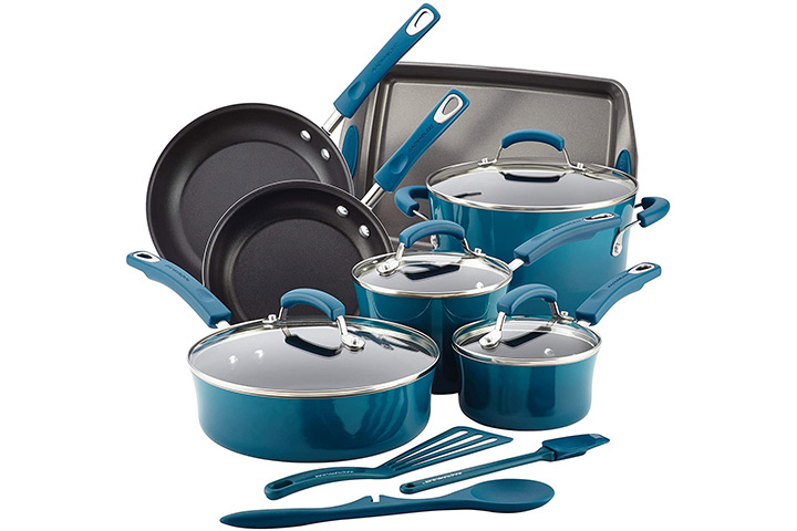 Rachael Ray Brights Nonstick Cookware Set