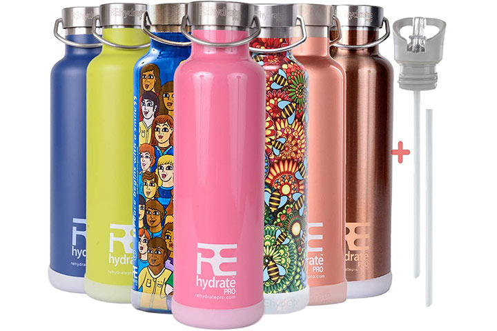 Rehydrate Pro Stainless Steel Water Bottle Flask