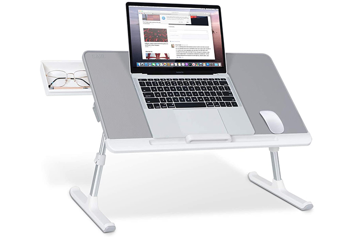 Saiji Adjustable PVC Leather Laptop Bed Table