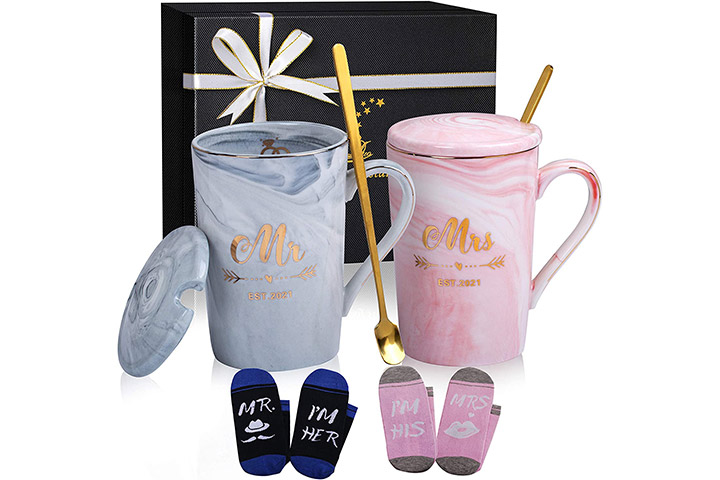 ShinnyWis Mr. And Mrs. Coffee Mugs