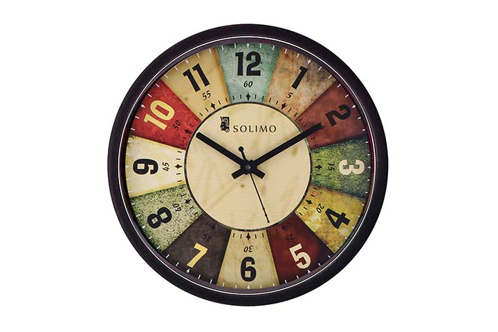Solimo Wall Clock - Classic Roulette