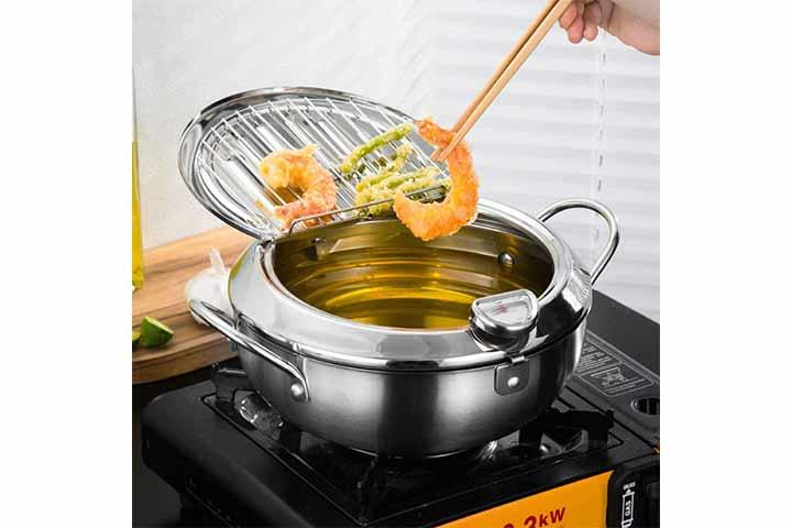 Stainless Steel Deep Fryer Pot Frying Chicken Pot