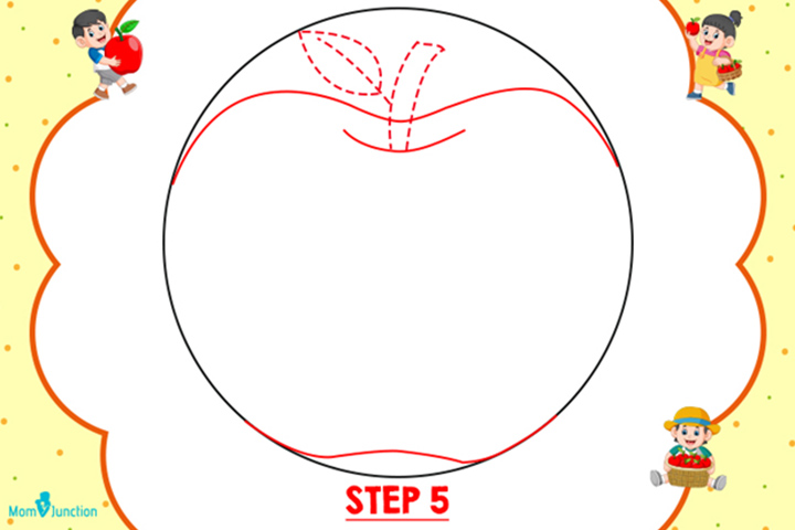 Steps To Draw An Apple