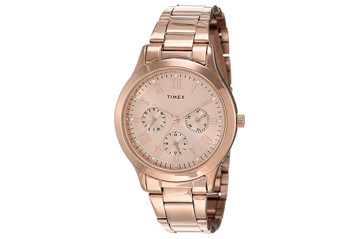 Timex Analog Gold Dial Women's Watch