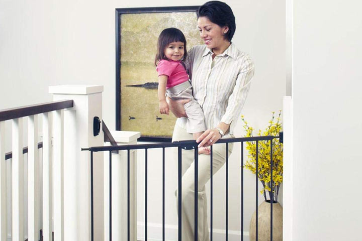 Toddleroo By North States 47.85in Wide Easy Swing and Lock Baby Gate