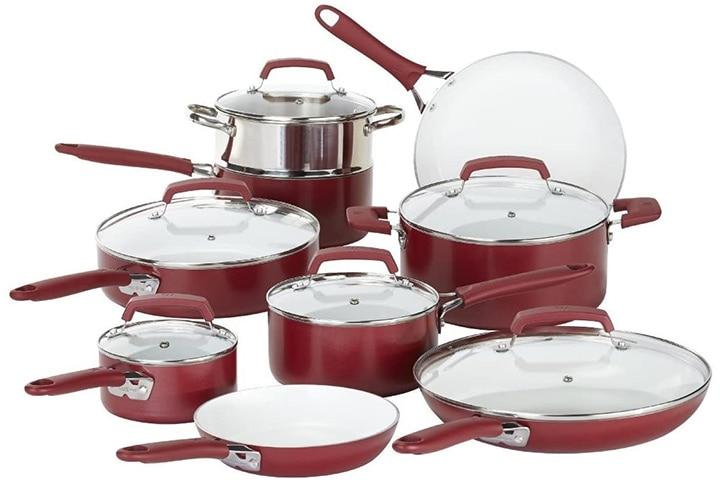 WearEver 15-Piece Ceramic Nonstick Cookware Set