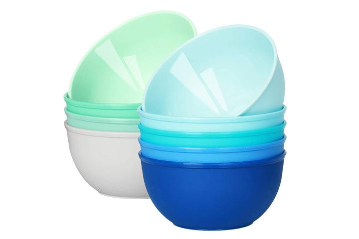 Youngever Kids Plastic Bowls