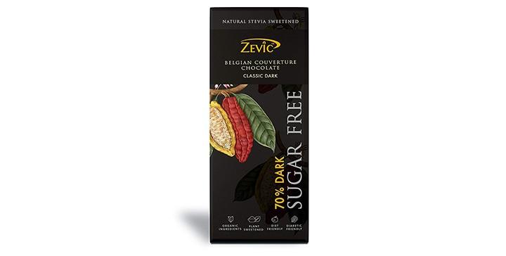Zevic Belgian Sugar-Free Dark Chocolate