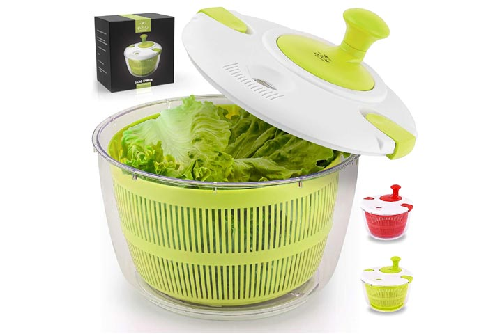 Zulay Kitchen Salad Spinner, Large