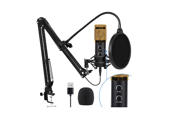 Bonke USB Condenser Professional Microphone