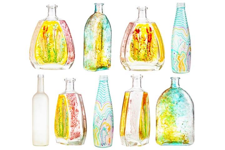 Bottle spray painting