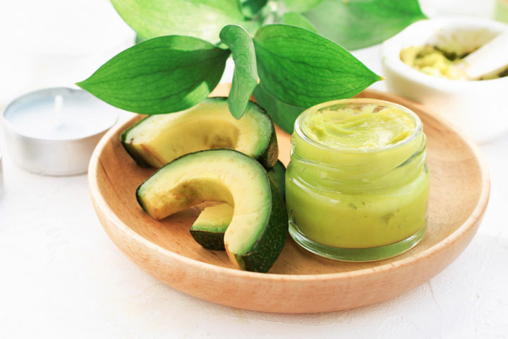 Breast milk and avocado puree