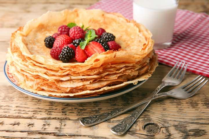 Breast milk pancakes