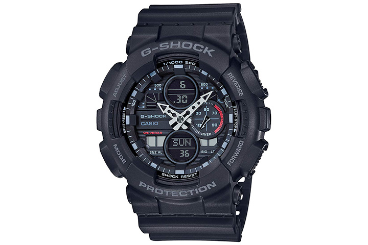 Casio Analog-Digital Black Dial Men's Watch