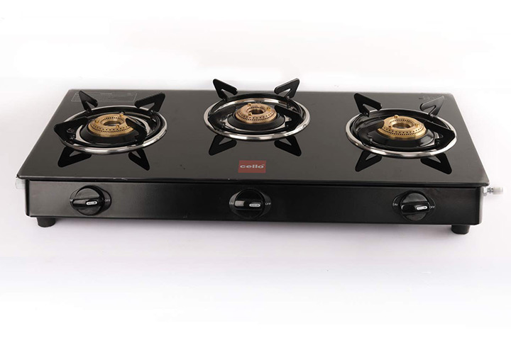 Cello Prima Gas Stove Glass Top