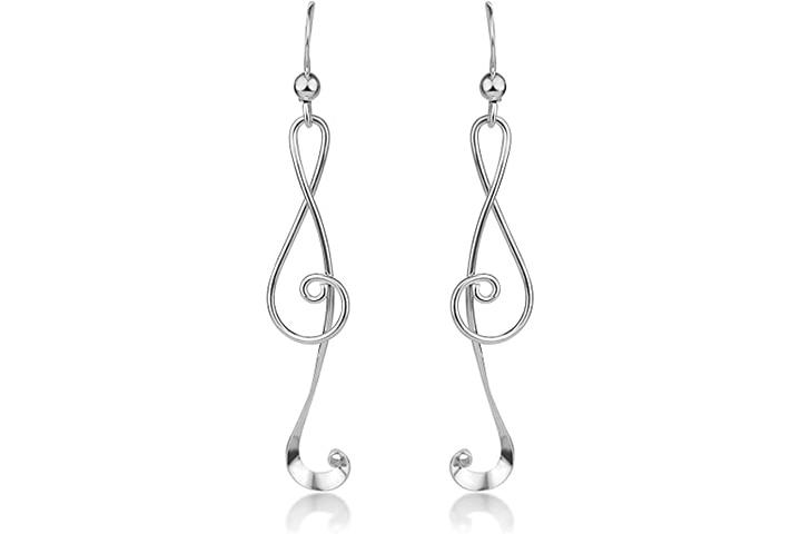 Chuvora Musical Note Dangle Hook Earrings