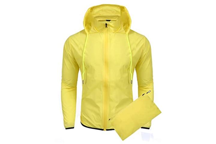 Coofandy Unisex Packable Rain Jacket