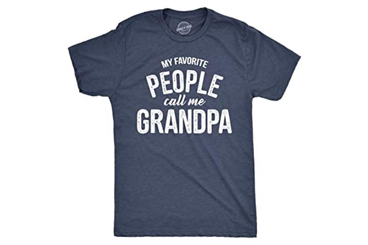 Crazy Dog 'My Favorite People Call Me Grandpa' T-shirt