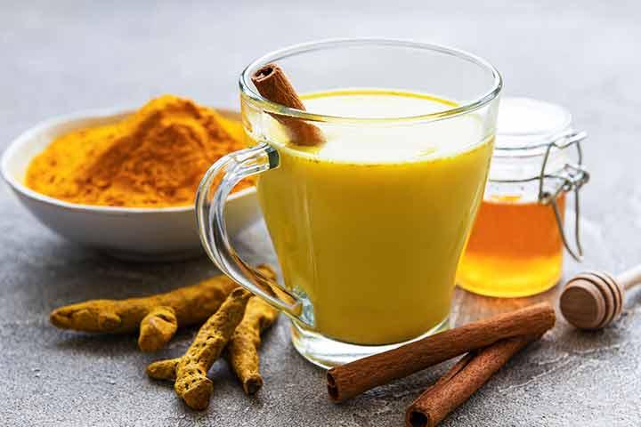 Creamy golden milk smoothie
