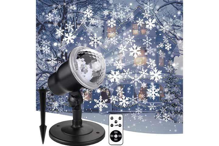 Double Gift Christmas Snowflake Projector Lights