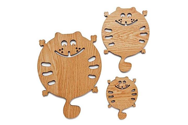EcosallCat Wooden Trivets