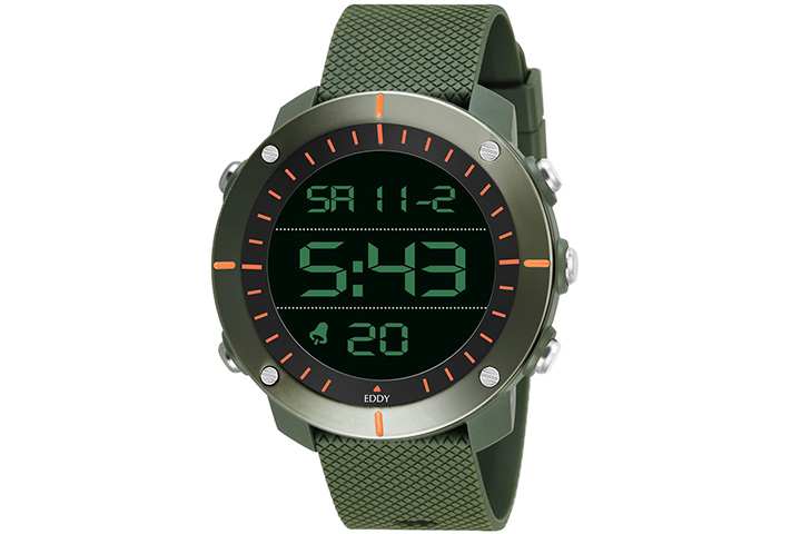 Eddy Hager Digital Black Dial Men's Watch
