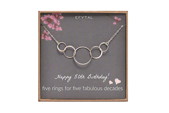 Efytal 50th Birthday Necklace