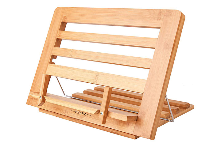 Exerz Bamboo Reading Rest Cookbook Stand