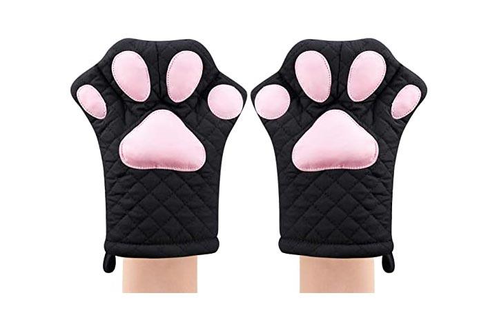 Feb.7 Cat Design Cooking Gloves