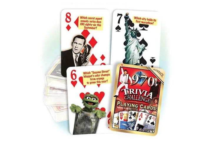 Flickback 1970 Trivia Playing Cards