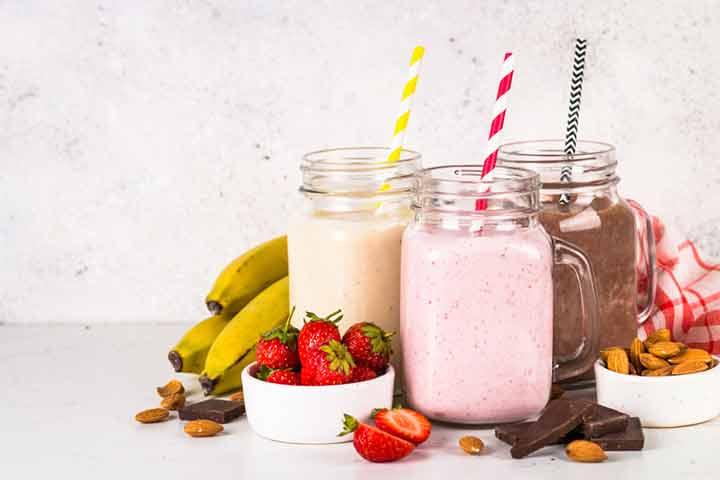 Fruit and nut lactation shake