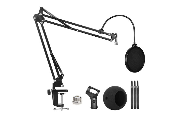 GLife Blue Snowball Microphone Stand