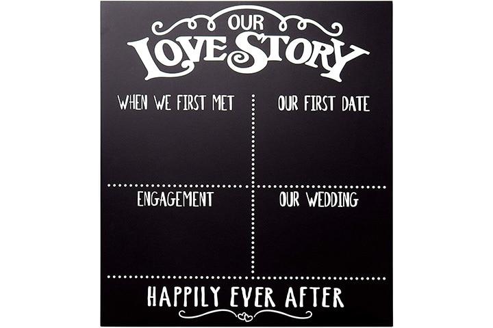 Jenny Gems - Our Love Story Chalkboard