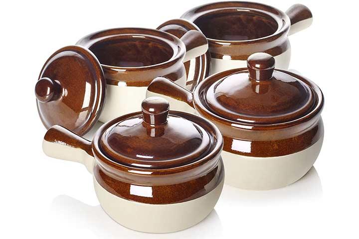 LIFVER Ceramic Soup Crocks
