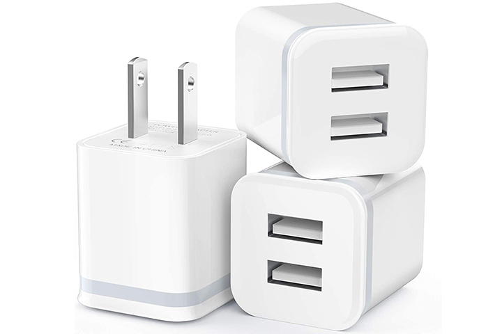 LUOATIP 3-Pack USB Wall Charger