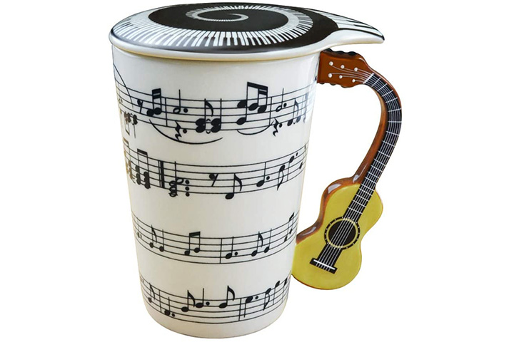 Lavezee Mug Cup With Guitar Handle