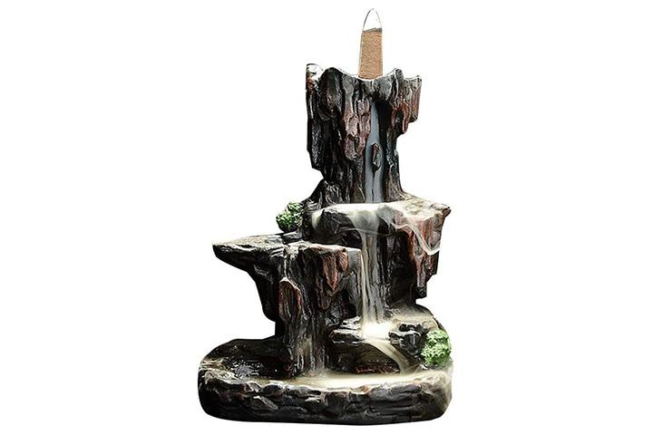 Leafis Waterfall Incense Burner Mountain Tower