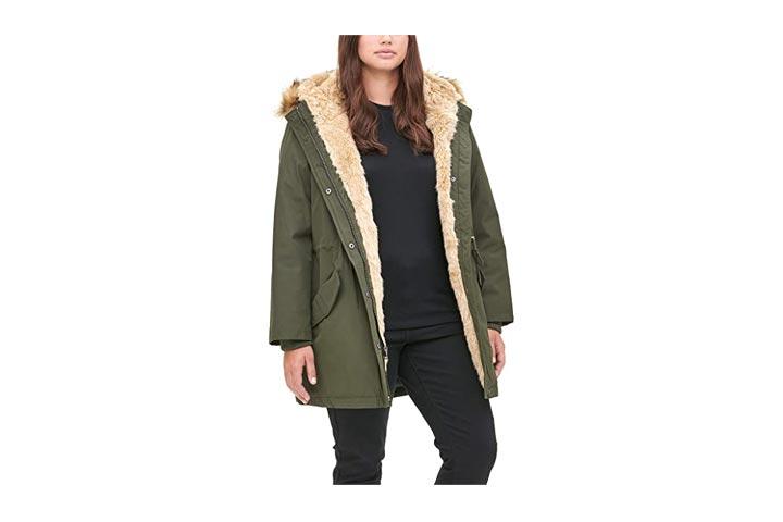 Levis Womens Faux Fur Lined Hooded Parka Jacket