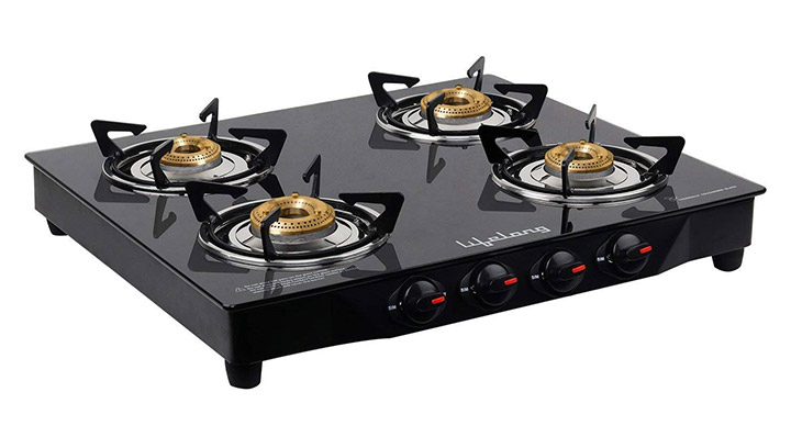 Lifelong Glass Top Gas Stove