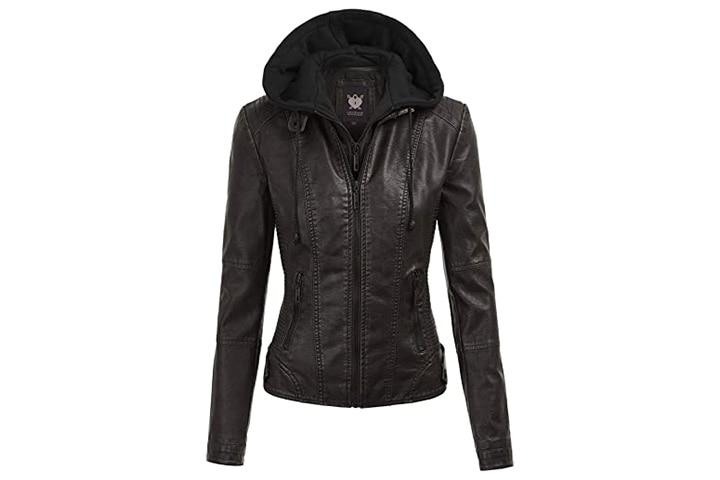Lock and Love Women's Moto Biker Jacket