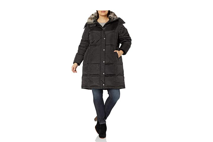 London Fog Womens Plus Size Collar Down Coat