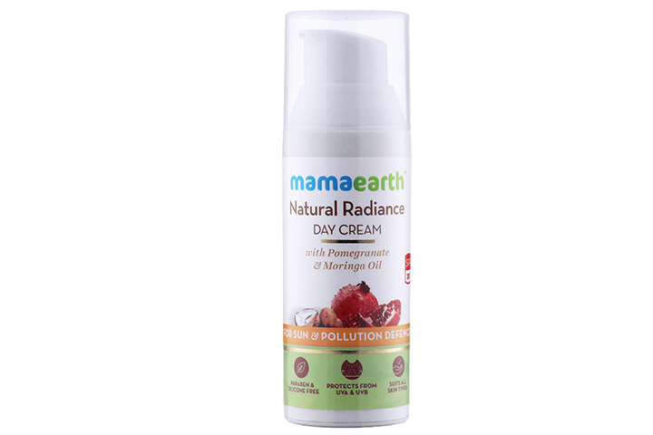 Mamaearth Natural Radiance Day Cream with Pomegranate and Moringa Oil
