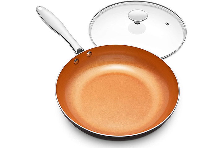Michelangelo Non-stick Copper Frying Pan With