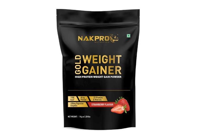 Nakpro Nutrition Gold Weight Gainer Protein Powder Supplement