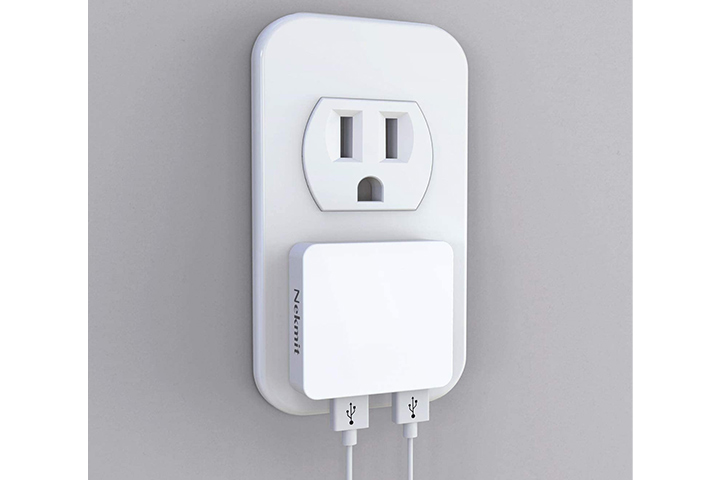 Nekmit Ultra Thin Flat USB Wall Charger