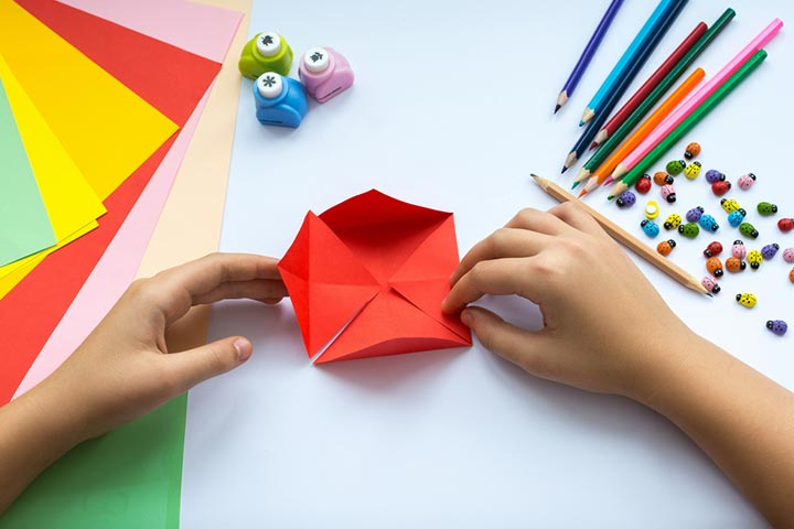 Newspaper Origami envelopes
