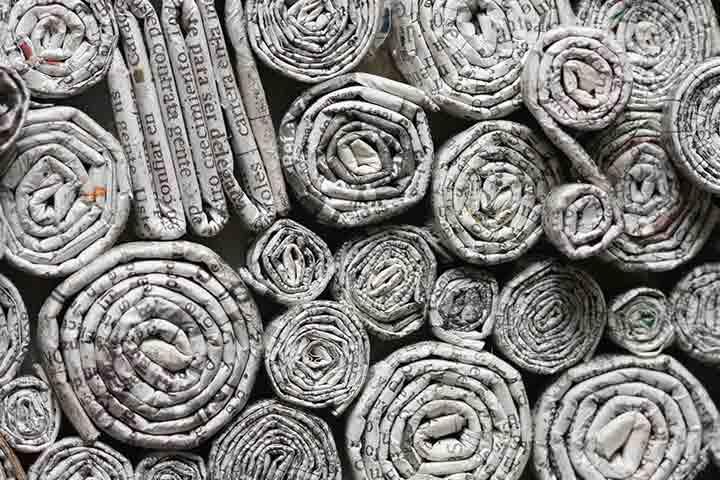 Newspaper building blocks