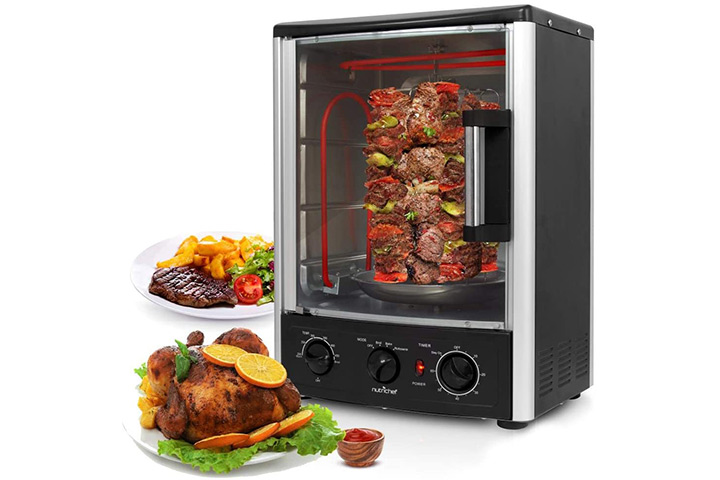 Nutrichef Upgraded Multi-Function Rotisserie