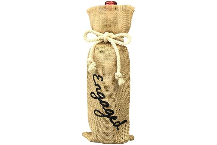 Oyamihui Burlap Wine Bag