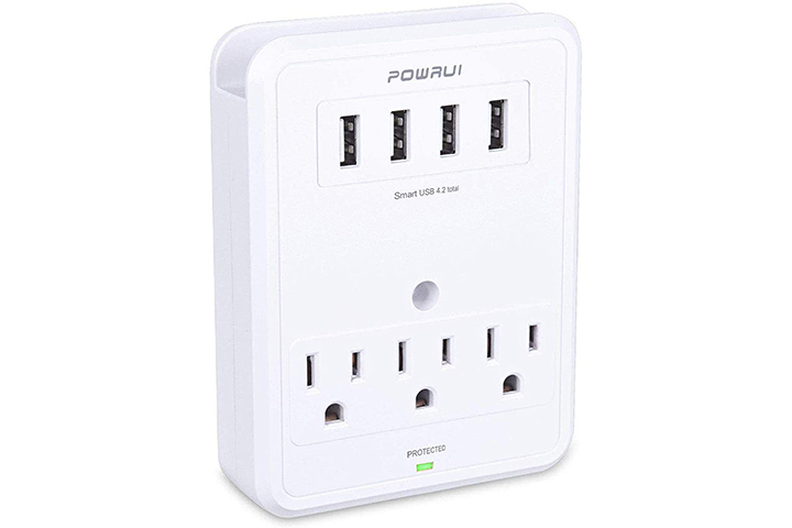 POWRUI USB Wall Outlet Adapter